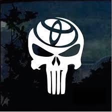 Punisher Skull Toyota Trd Truck Decal Sticker A2 Custom Sticker Shop