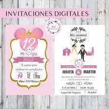 Invitaciones Digitales Cumpleanos Bautismo Comunion 15 Anos 250 00 En Mercado Libre