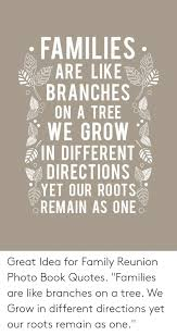 families sare likes branches on a tree we grow in different