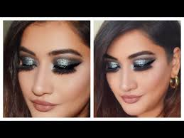 step by step easy glitter party makeup