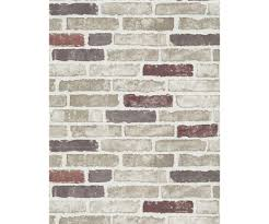 red creme brick wallpaper