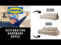 ikea restoration hardware dupes