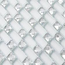 silver color crystal clear beveled