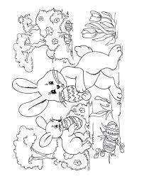 Kleurplaat Paashaasjes Zoeken Eieren