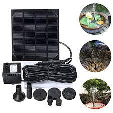 bird baths 7v 1 2w solar water pump