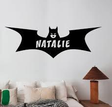 Batgirl Logo Wall Decal Custom Name Sticker Marvel Comics Etsy