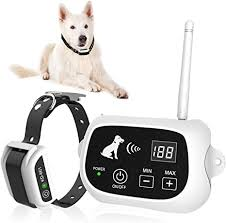 Amazon Com Utopb Wireless Dog Fence Pet Containment System Pets Dog Containment System Boundary Container With Ip65 Waterproof Dog Training Collar Receiver Adjustable Range Harmless For All Dogs Utopb Pet Supplies