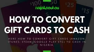 convert gift cards to cash in nigeria