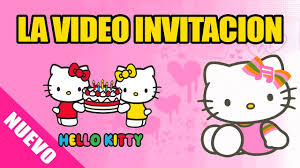 Hello Kitty Video Invitacion Hellokitty Youtube