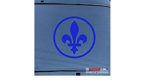 Quebec Fleur De Lys Decal Sticker Flag Canada Car Vinyl Pick Size Color Round Rainbowlands Lk