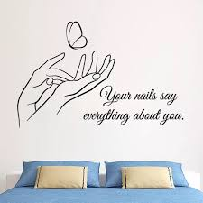Nails Style Wall Sticker Removable Vinyl Manicure Art Wall Decal Nails Shop Wall Window Mural Beauty Salon Quote Decor Ay1093 Wall Stickers Aliexpress