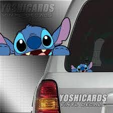 Stitch Peeking Inspired Car Laptop Vinyl Decal Etsy