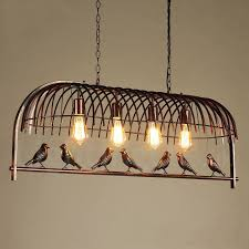 4 light rustic lodge retro birdcage