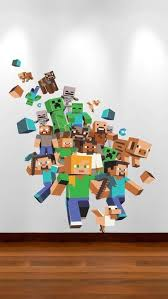 Contemporary Minecraft Wall Designs Unique Minecraft Wall Murals By Independence