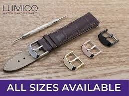 genuine leather strap band buckle clasp