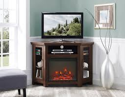 corner fireplace tv stand media console