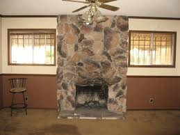 stone wall fireplace faux panels