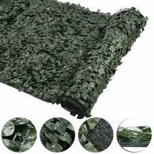 59x196 Faux Ivy Leaf Artificial Hedge Fencing Privacy Fence Screen Decorative For Sale Online