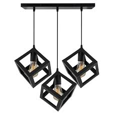 linear cer chandelier hanging cube