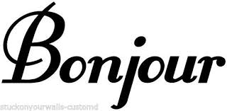 Bonjour French Hello Wall Decal Sticker Kitchen Bedroom Living Room Many Colors For Sale Online