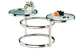 ottawa glass coffee table in chrome