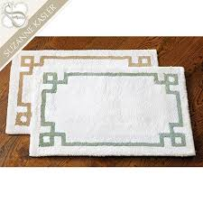 suzanne kasler greek key bath mat