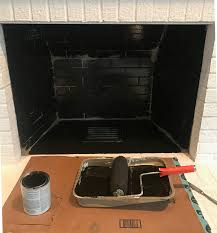 how to paint the inside of a fireplace