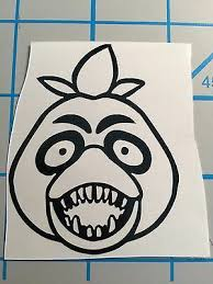 Free Shipping Five Nights At Freddy S Nightmare Chica Vinyl Decal Fnaf Horror Vinyl Decals Freddy S Nightmares Five Nights At Freddy S