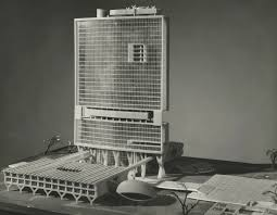 Achyut Kanvinde entry, City Hall and Square Competition, Toronto, 1958,  architectural model : Digital Archive : Toronto Public Library