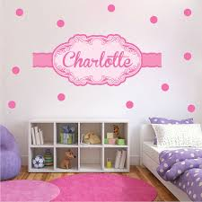Girls Custom Name Wall Decal Pink Wall Stickers For Nursery Custom Wall Decal Murals Primedecals
