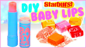 diy baby lips out of starbursts make