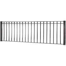Monroe 3 Ft H X 8 Ft W Black Steel Flat Top Decorative Fence Panel In The Metal Fence Panels Department At Lowes Com
