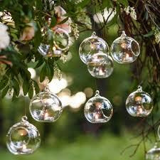 glass hanging tealight holder ball
