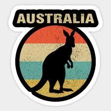 australia vine retro with kangaroo