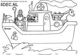 Kleurplaat Boot Sinterklaas Kleurplaten Sint Nicolaas