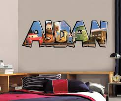 Cars Movie Personalized Custom Name Wall Sticker Decal J244 Decalz Co