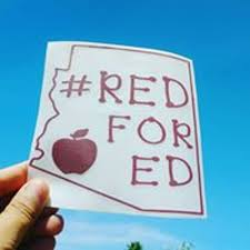 Red For Ed Arizona Teachers Support Car Decal Redfored Etsy