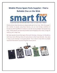 Mobile Phone Spare Parts Supplier: Find a Reliable One on the Web ...