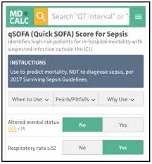 sepsis shock qsofa sofa score