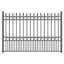 Aleko London Style 5 Ft X 8 Ft Black Iron Fence Panel Fencelon Hd The Home Depot