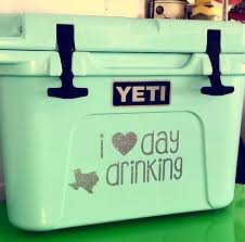 I Love Day Drinking Vinyl Decal Cooler Decal Vinyl Decals Day Drinking Cooler