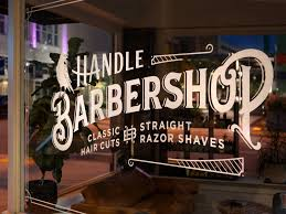 Handle Barbershop Window Decal By Hunter Oden On Dribbble