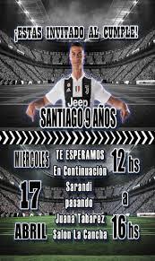 Invitaciones Cristiano Ronaldo Juventus Digital 99 00 En