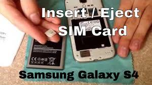 sim card samsung galaxy s4