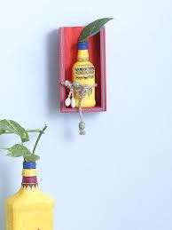 yellow warli wall mounting money plant