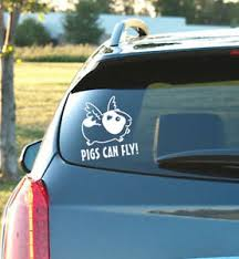 Guinea Pigs Can Fly Vinyl Decal Guinea Pig Funny Small Animal Ebay