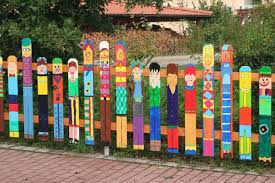 Old Fence Posts Make For Fun Project Even Just One Or Two In The Garden Would Be Adorable Gardening For Kids Diy Fence Preschool Playground
