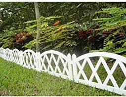 Amazon Com White Plastic Fence