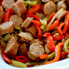 crock pot sausage and peppers the