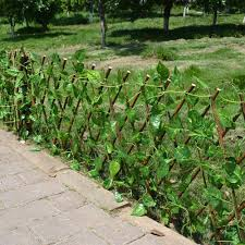Artificial Privacy Fence With Vines Luxefrog